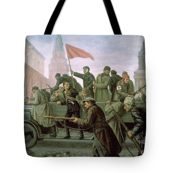 The Taking Of The Moscow Kremlin In 1917 Tote Bag