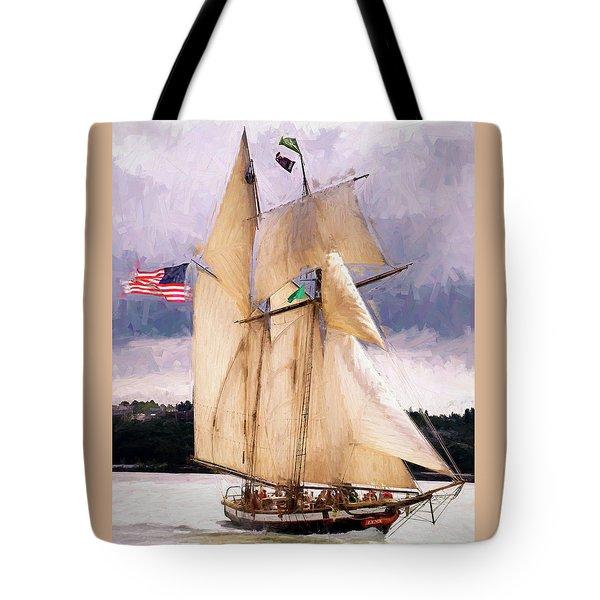The Tall Ship The Lynx, Fine Art Print Tote Bag