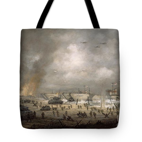 The Tanks Go In - Sword Beach  Tote Bag