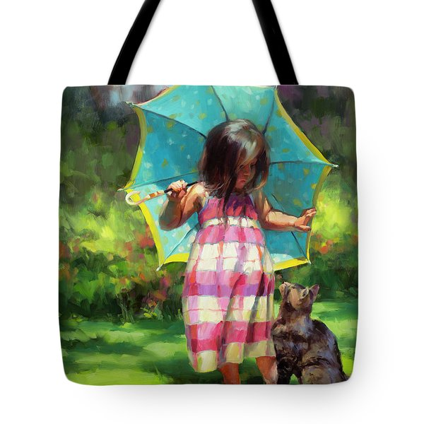 The Teal Umbrella Tote Bag