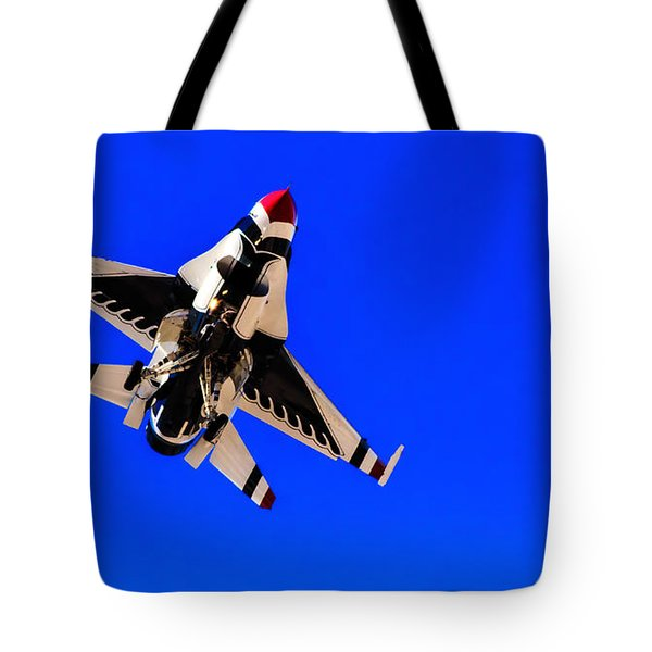 Tote Bag featuring the photograph The Team Usaf Thunderbirds by Michael Rogers