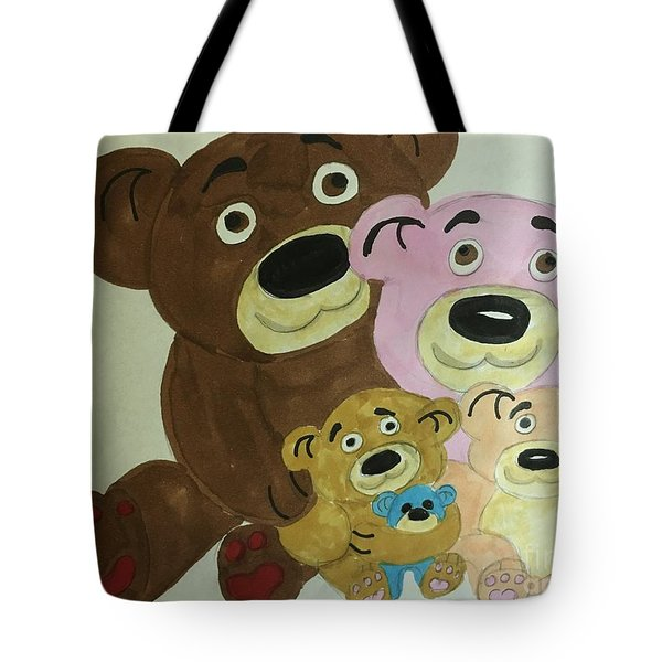 The Teddy Family  Tote Bag