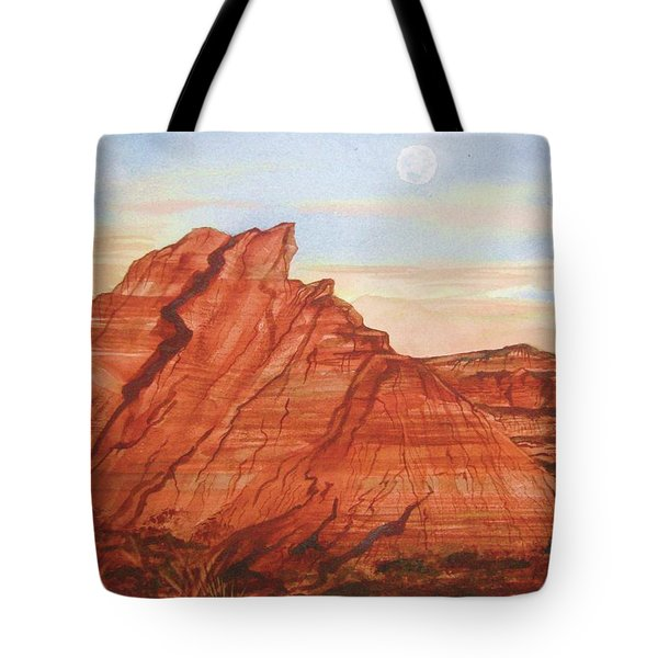 Tote Bag featuring the painting The Teepees by Ellen Levinson