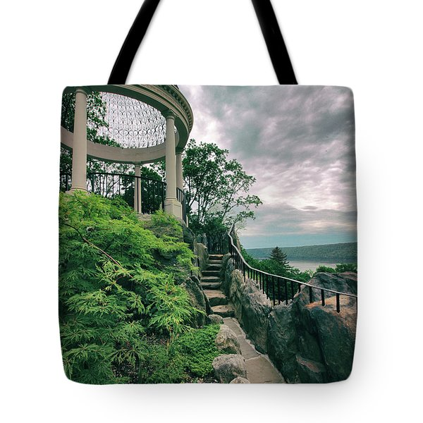 The Temple Walkway Tote Bag by Jessica Jenney