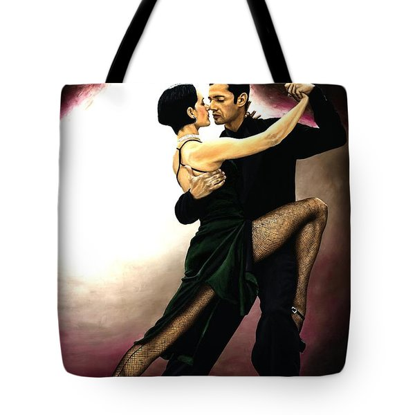 The Temptation Of Tango Tote Bag by Richard Young