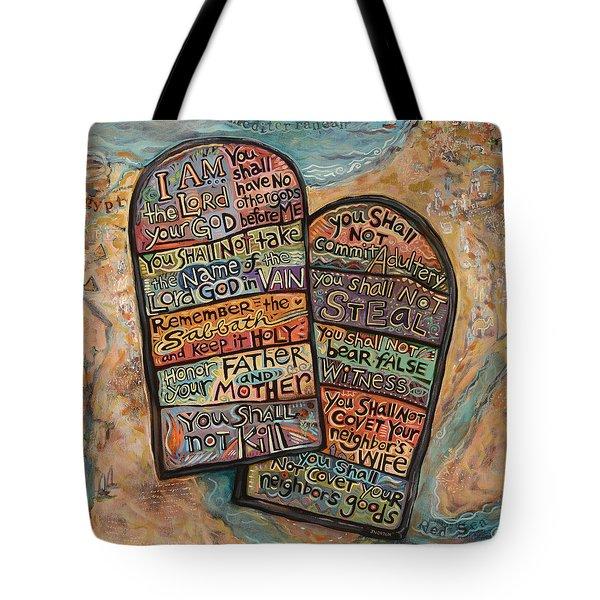 The Ten Commandments Tote Bag