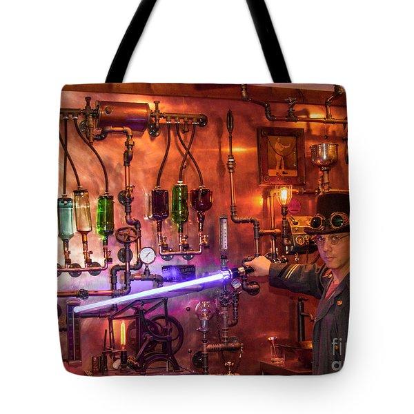 The Tender 2 Steampunk Interior Design 7 Atlanta Man-cave Art Tote Bag