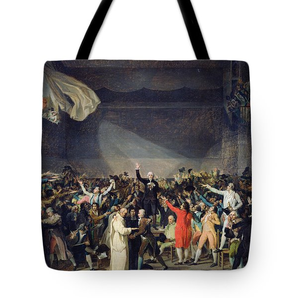 The Tennis Court Oath Tote Bag by Jacques Louis David