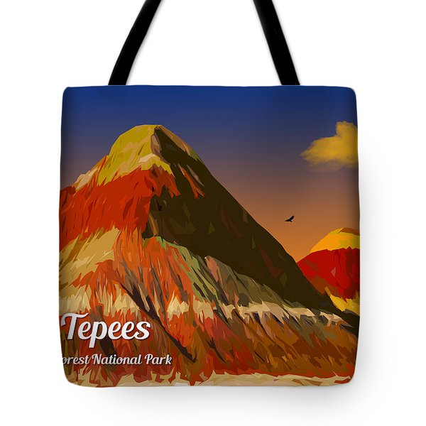 The Tepees Tote Bag by Chuck Mountain