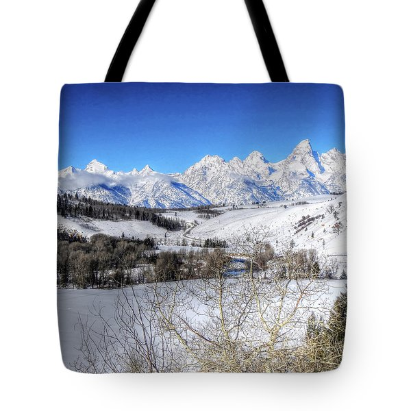 The Tetons From Gros Ventre Valley Tote Bag