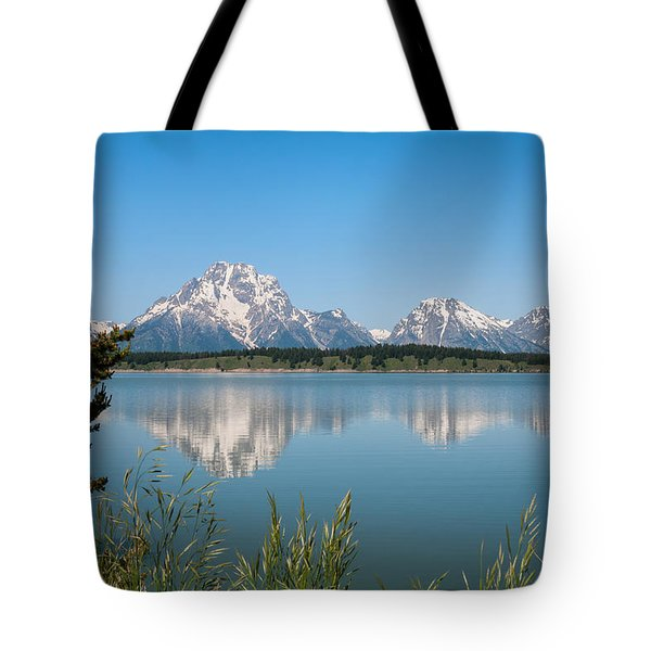 The Tetons On Jackson Lake - Grand Teton National Park Wyoming Tote Bag
