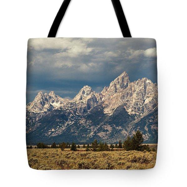 The Tetons Tote Bag by Sharon Seaward