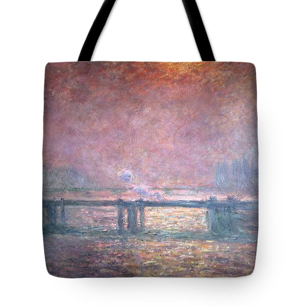 The Thames At Charing Cross Tote Bag by Claude Monet