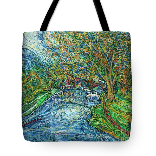 The Thames At Oxford Tote Bag