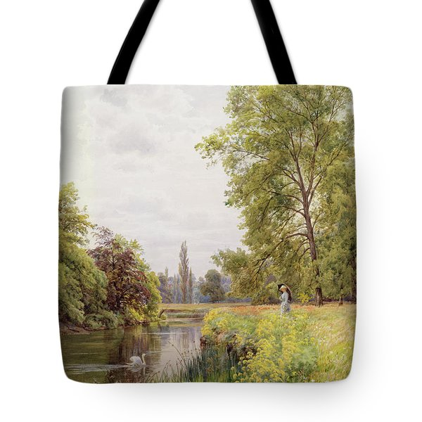 The Thames At Purley Tote Bag by William Bradley