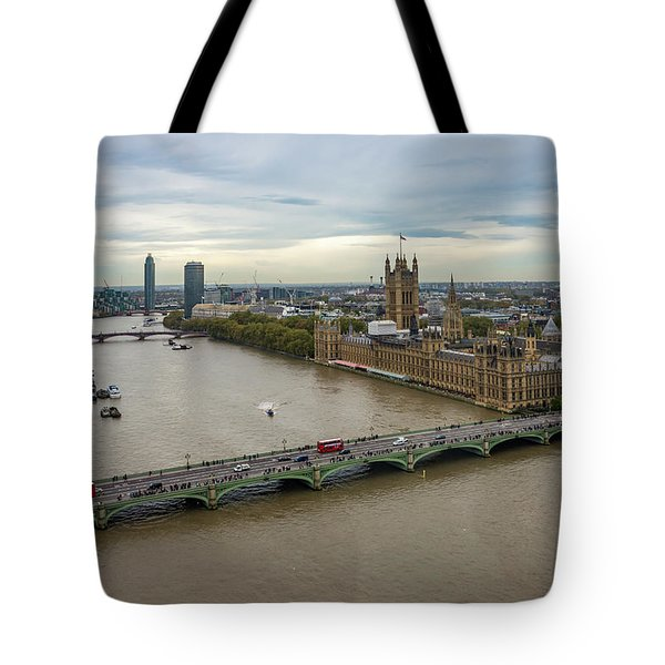 The Thames At Sunset Tote Bag