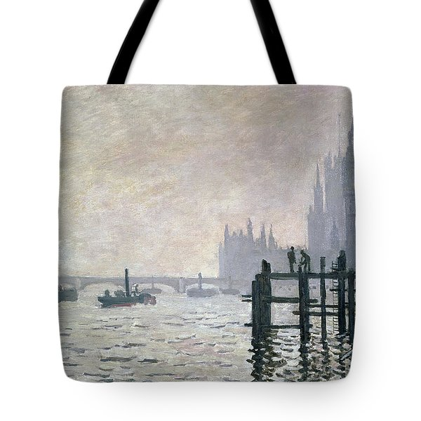 The Thames Below Westminster Tote Bag by Claude Monet