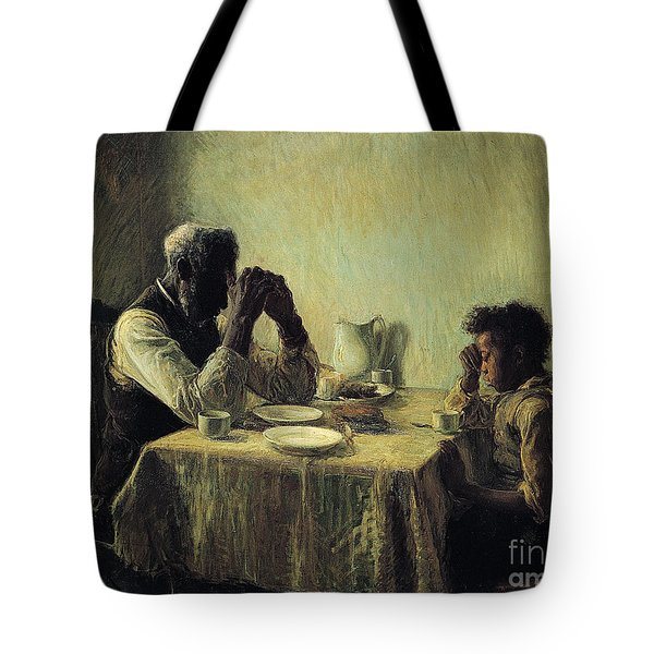 Tote Bag featuring the painting The Thankful Poor by Henry Ossawa Tanner