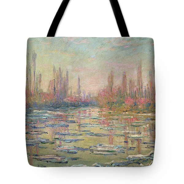 The Thaw On The Seine Tote Bag by Claude Monet
