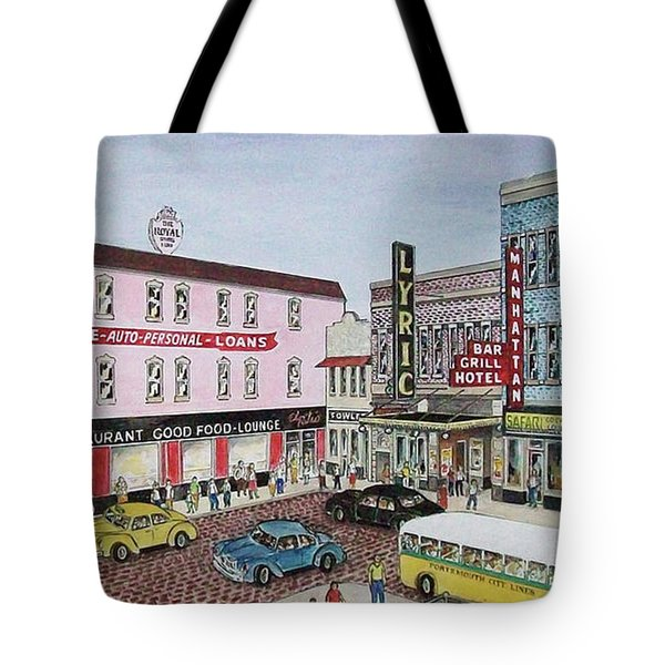 The Theater District Portsmouth Ohio 1948 Tote Bag
