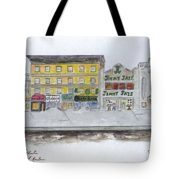 Theatre's Of Harlem's 125th Street Tote Bag by AFineLyne