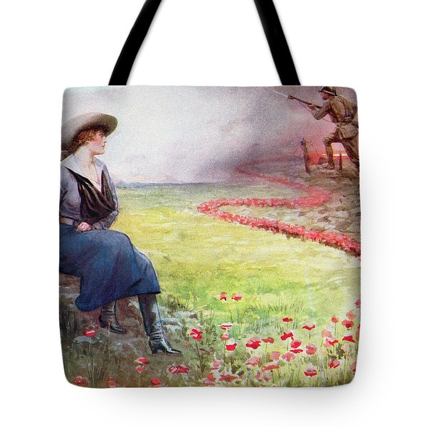 The Thin Red Line Tote Bag