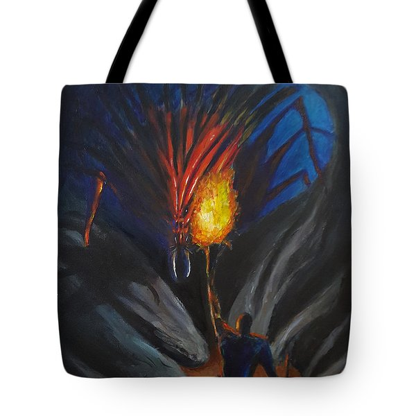 The Thing In The Cave Tote Bag by Chris Benice