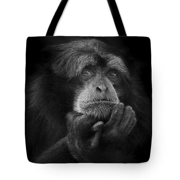 The Thinking Monkey Tote Bag