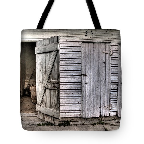 Tote Bag featuring the photograph The Third Door by William Fields