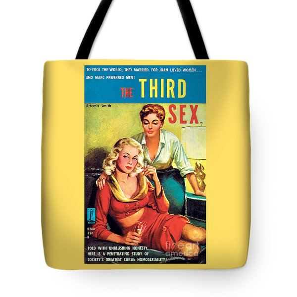 Tote Bag featuring the painting The Third Sex by Robert Stanley