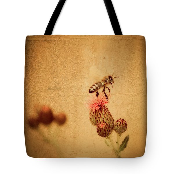 The Thistle And The Bee Tote Bag