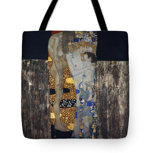 The Three Ages Of Woman Gustav Klimt Tote Bag
