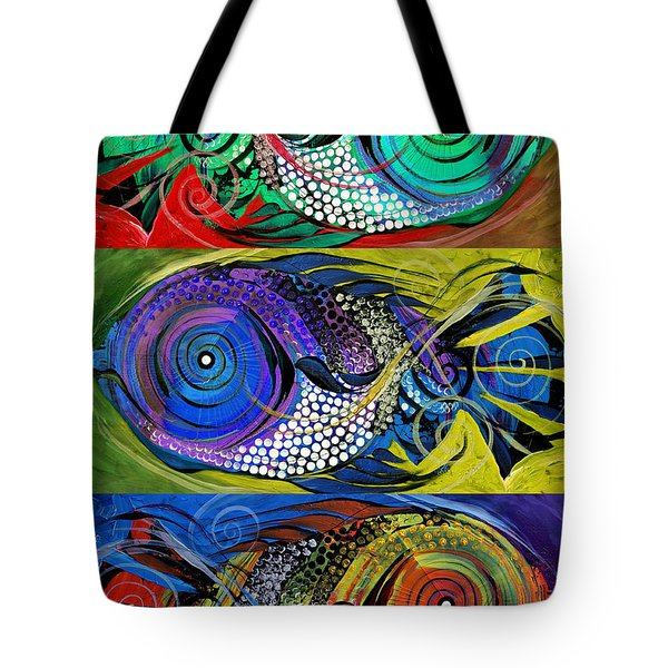 The Three Fishes Tote Bag
