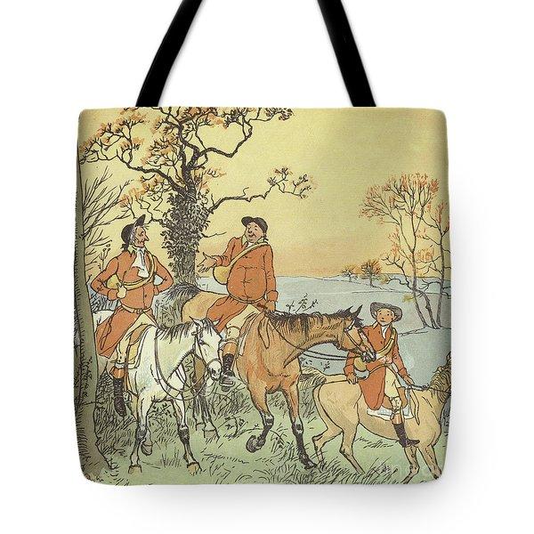 The Three Jovial Huntsmen Tote Bag