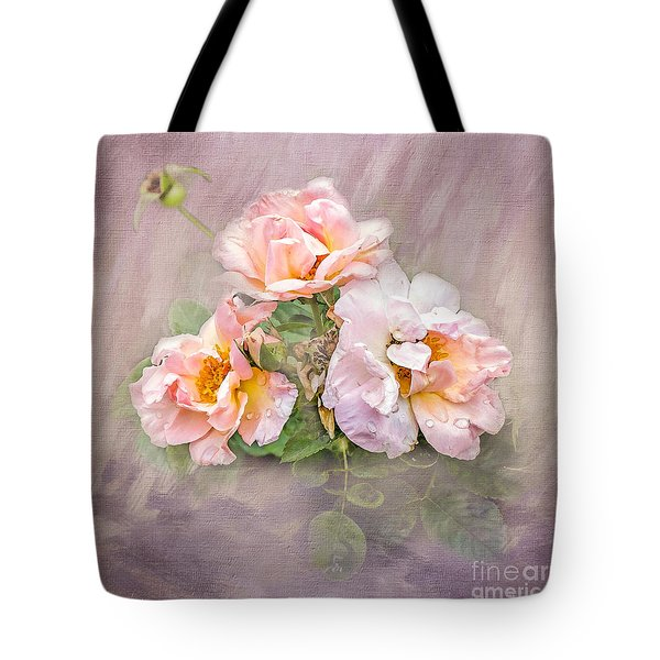 Tote Bag featuring the photograph The Three Of Us by Betty LaRue