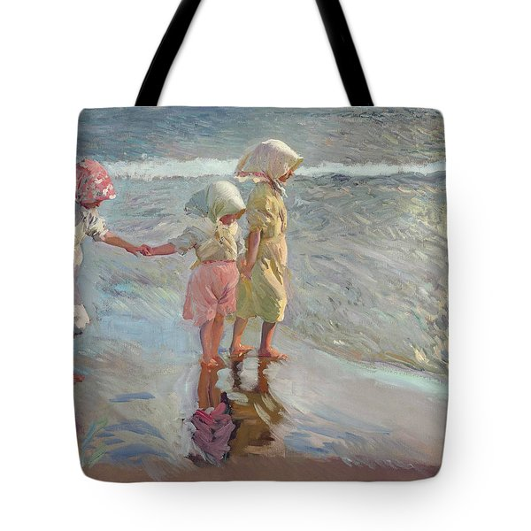The Three Sisters On The Beach Tote Bag