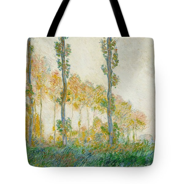 The Three Trees Tote Bag by Claude Monet