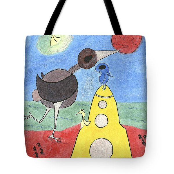 The Tide Of The Red Moon Tote Bag