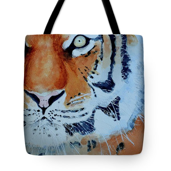 Tote Bag featuring the painting The Tiger by Steven Ponsford