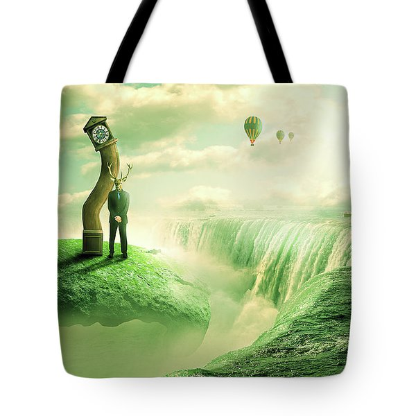 The Time Keeper Tote Bag by Nathan Wright