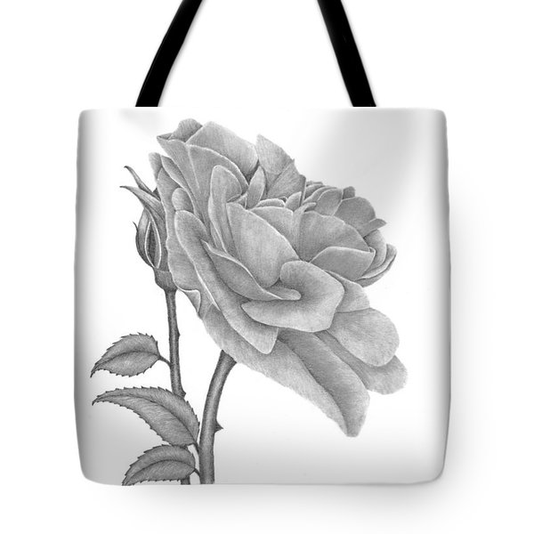 Tote Bag featuring the drawing The Timeless Beauty Of Roses by Patricia Hiltz