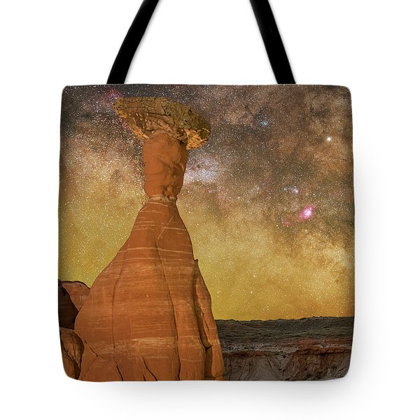 The Toadstool And The Core Tote Bag
