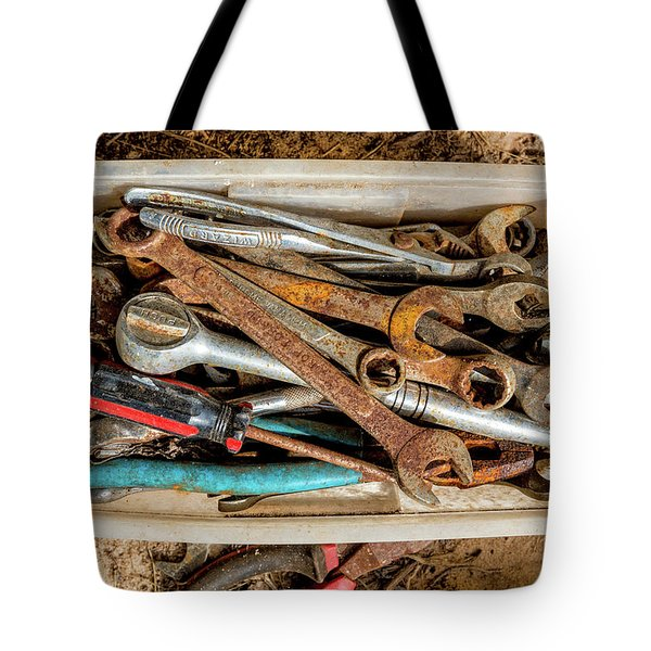 Tote Bag featuring the photograph The Toolbox by Christopher Holmes