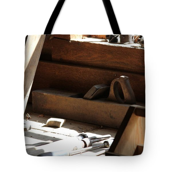 Tote Bag featuring the photograph The Tools by Laddie Halupa