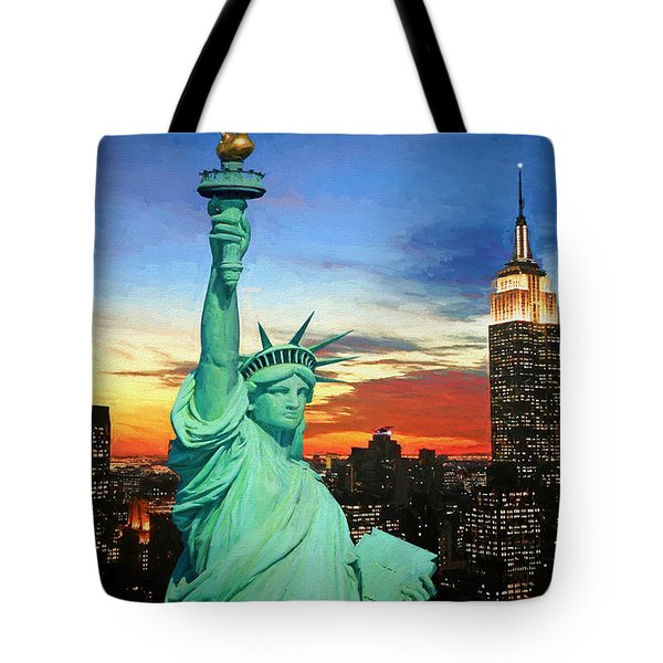 The Torch For Human Liberty Tote Bag