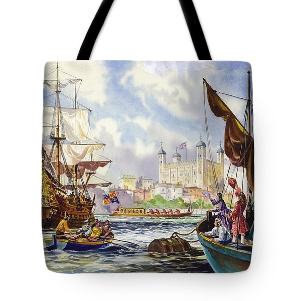 The Tower Of London In The Late 17th Century  Tote Bag