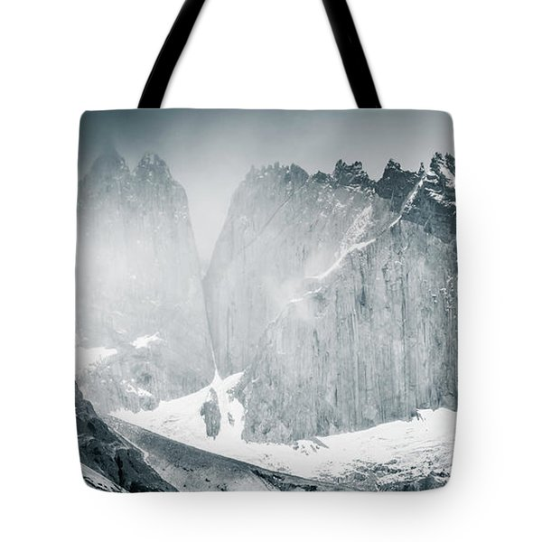 Tote Bag featuring the photograph The Towers by Andrew Matwijec