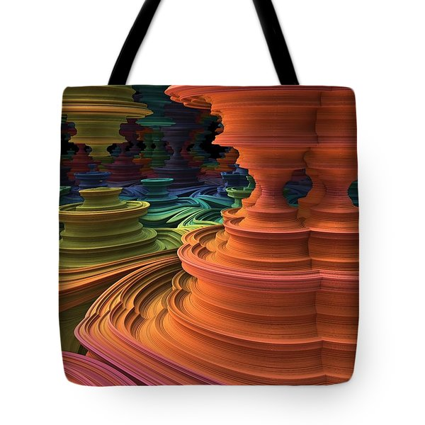 Tote Bag featuring the digital art The Towers Of Zebkar by Lyle Hatch