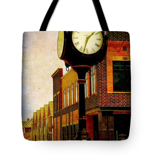 the Town Clock Tote Bag