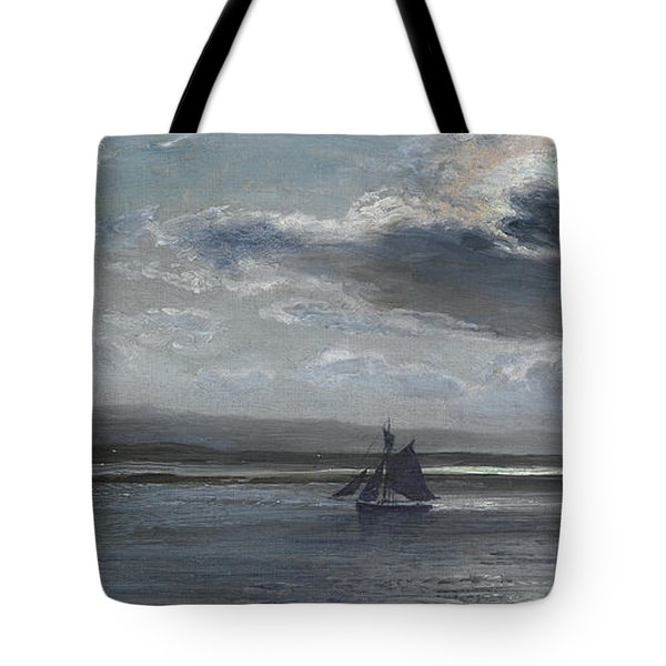 The Traeth Mawr, Moonlight Tote Bag